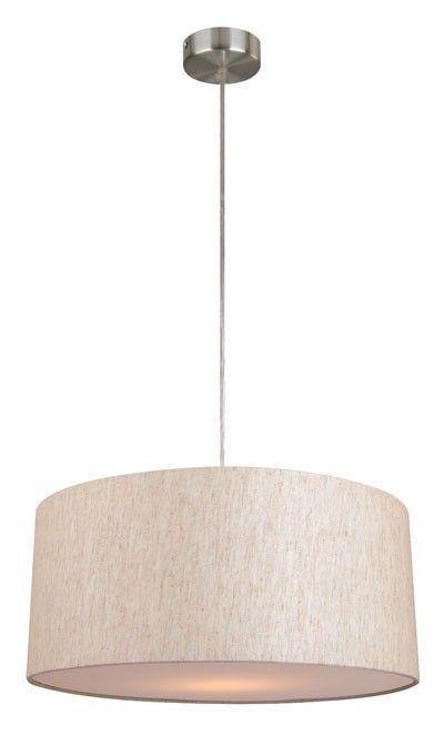 Mara II Drum Pendant in Linen,Lighting,Beacon Lighting