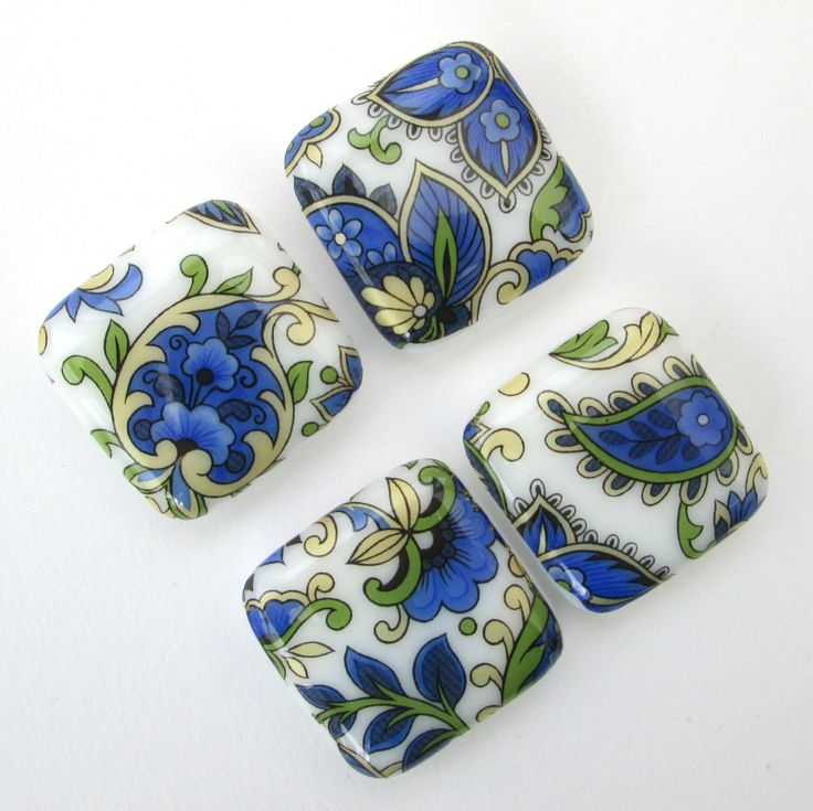 Blue gold board magnets, Paisley print magnetic pin set for refrigerator or memo board, garden lover gifts, home office supplies http://etsy.me/2n5SWTZ #housewares #blue #backtoschool #gold #fridgeboardmagnets #fusedglassmagnets #homeofficesupplies #gardenlovergift