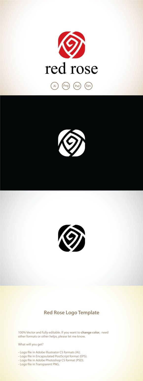 Logotype butterfly and letter b in different colour variants on a - Red Rose Logo Template