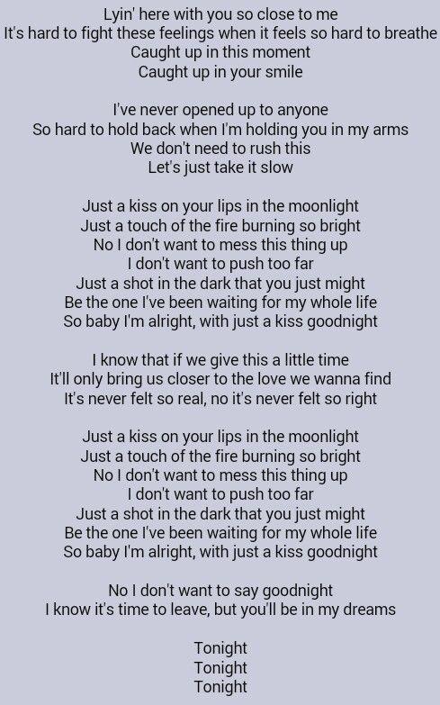 it started with a kiss meet lyrics