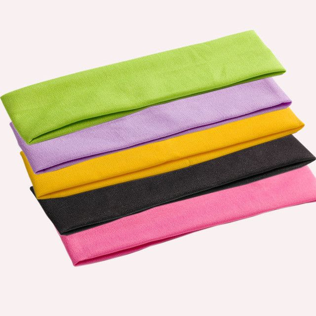 5 PCS Fashion Style Absorbing Sweat Headband Candy Color Hair Band Popular Hair Accessories for Women