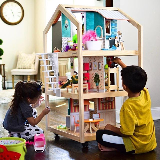 So Stylish Mansion Dollhouse With Ez Kraft Assembly Kids Play