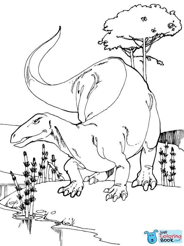 Camptosaurus Jurassic Dinosaur Coloring Page Dinosaur Coloring