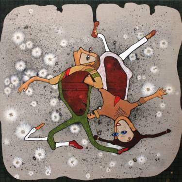 """Saatchi Art Artist Jette Reinert; Painting, """"Spinning Around"""" #art"""