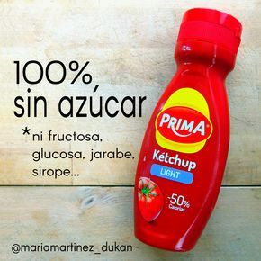 KETCHUP Prima Light: 100% sin azúcar, fructosa, glucosa, jarabe, sirope... Apto…
