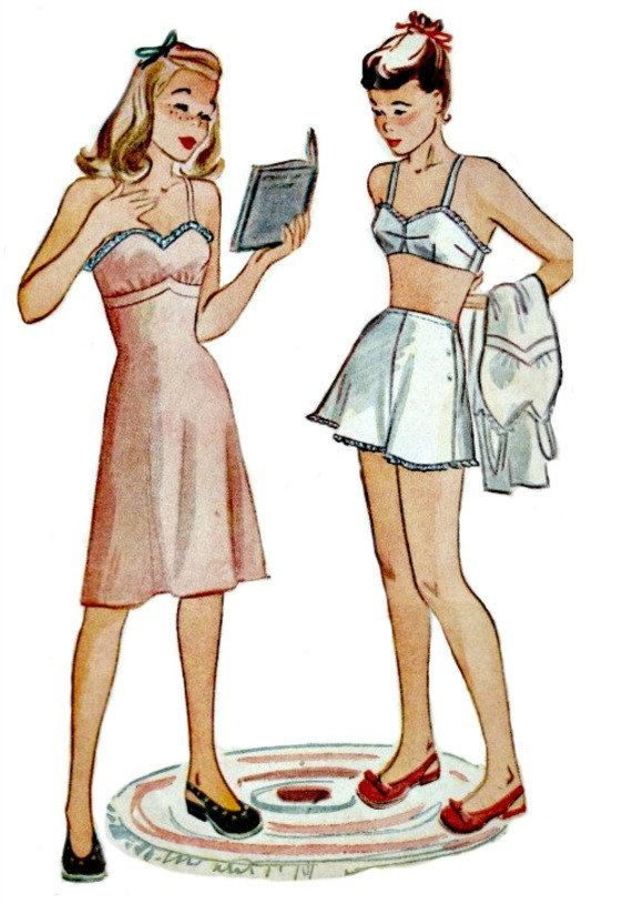 1940's Teen Lingerie Sewing Pattern  by ShellMakeYouFlip on Etsy