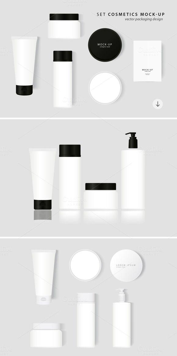 Set Cosmetics Mock-Up by NinaDolgopolova on @creativemarket
