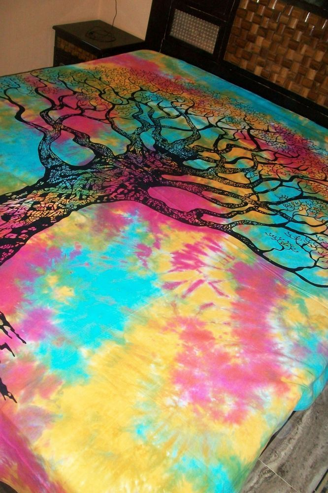 Psychedelic Tree wall hanging Indian Wall Tapestry dry Hippie Tapestries #Handmade