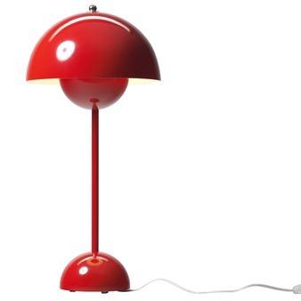 FlowerPot bordslampa VP3 - röd -