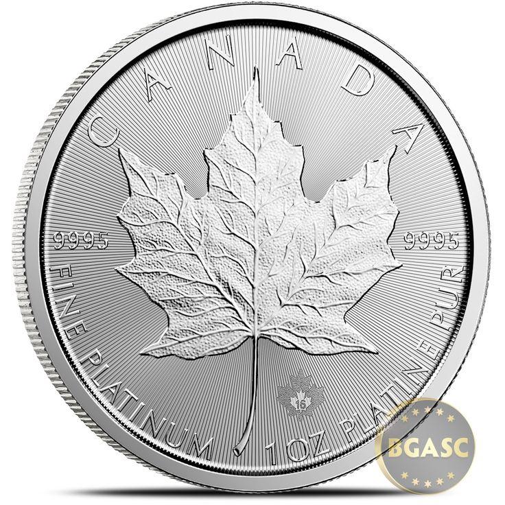 2016 1 oz Platinum Canadian Maple Leaf BU Bullion Coin .9995 Fine: 2016 1 oz Platinum Canadian Maple Leaf BU Bullion Coin .9995 Fine