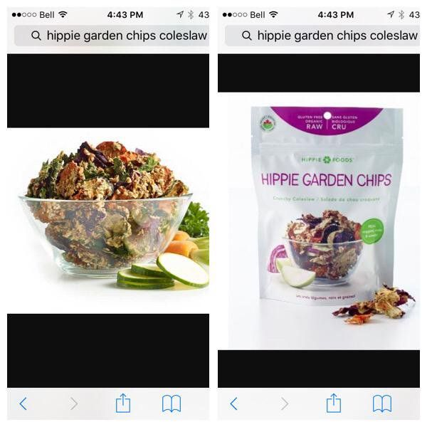 """Nicole Guay on Twitter: """"@HippieFoods @SocialNature OMG, I just tried the coleslaw flavor Hippie Garden Chips and they are #amazing http://t.co/H2E4CpuDd3"""""""