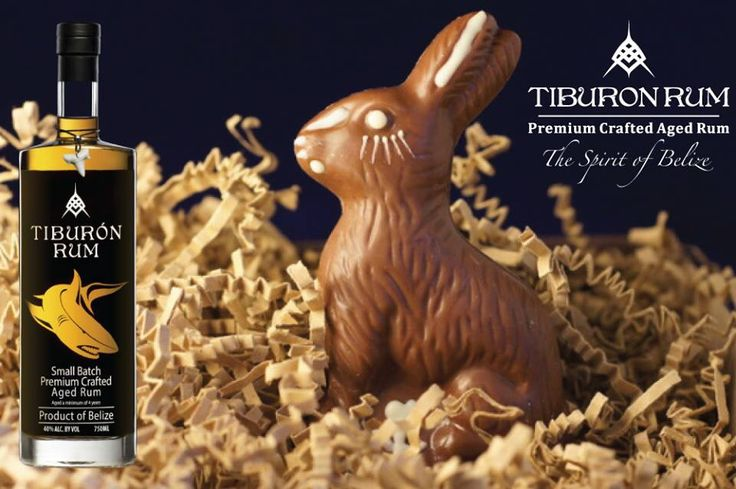 Easter coming nothing goes better with chocolate then Tiburon Rum !!