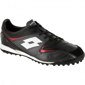 SALE - Mens Lotto Fuerzapura II 300 Soccer Cleats Black Leather - Was $70.00 - SAVE $20.00. BUY Now - ONLY $49.95