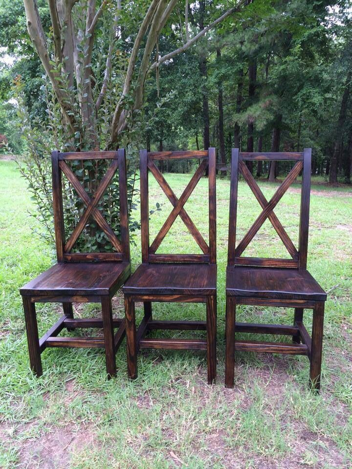 Handmade Dining Chairs With X Back Dining Tables