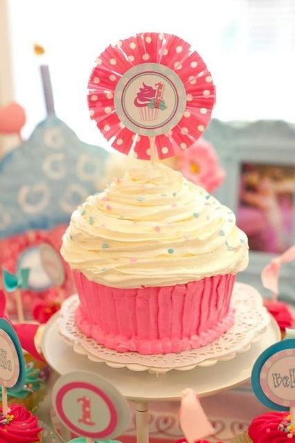 """Photo 1 of 18: First Birthday / Birthday """"Cupcakes & Polkadots"""" 