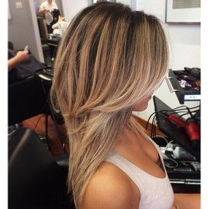 These are called face framing layers. If your hairdresser is Paul Mitchell trained, you can say round layers.  Other descriptions:  - layers shorter by the face, longer towards the back -side fringe - tapers