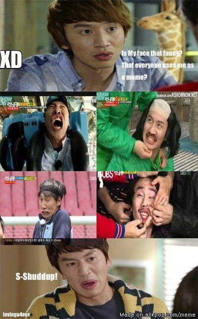 Lee Kwangsoo hehehe Best facial expressions EVER #RunningMan