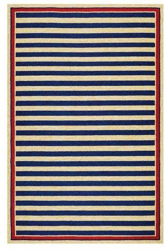 Couristan Nautical Stripes Indoor/outdoor Rug