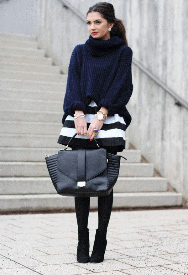 18 Sweater and Skirt Street Style Combinations