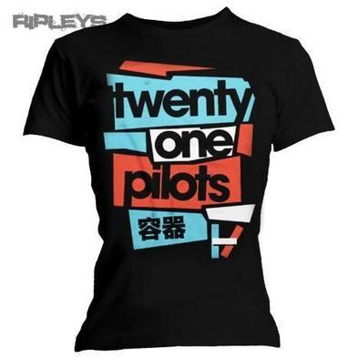Official Ladies T Shirt 21 TWENTY ONE PILOTS Logo Fragments All Sizes
