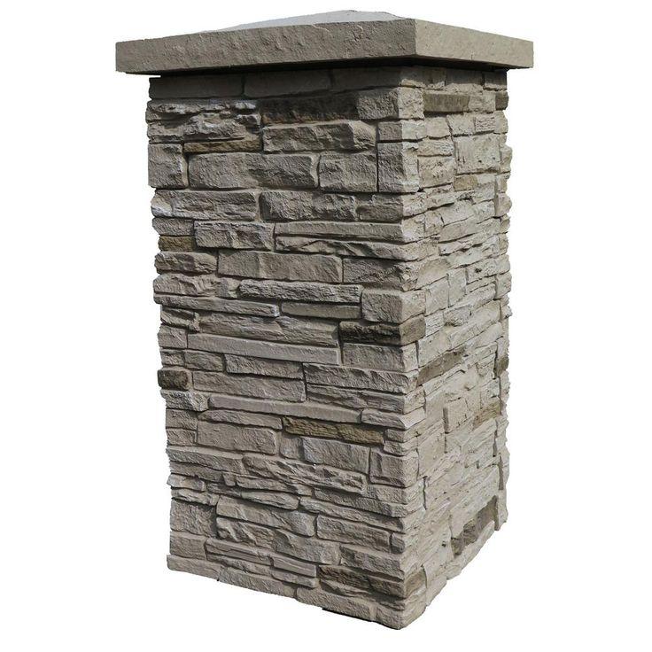 Nextstone Slatestone Sahara Red 30 In X 16 In Faux Polyurethane Stone Column Wrap 4 Piece