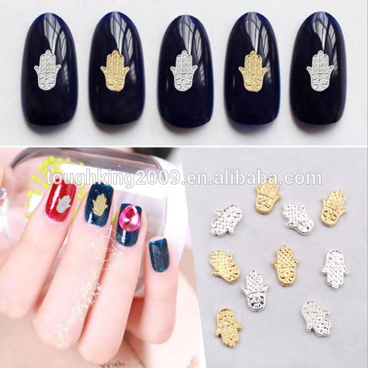 3d Nail Salon Supplies Palm Design Rhinestone Metal Nail Art Decoration