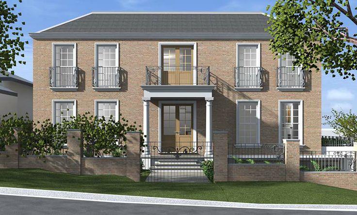 Georgian House Northbridge - 3D Design Concept by All Australian Architecture