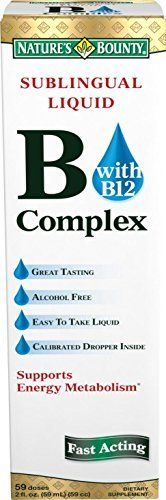 Dietary Supplement. Promotes Energy Metabolism. Great tasting; Fact acting; Alcohol free; Easy to take liquid; With a burst of B-12. This liquid provides an excellent source of B Complex Vitamins to help safeguard a sufficient daily intake. The B-Complex   	 		 			 				 					Famous Words... more details at http://supplements.occupationalhealthandsafetyprofessionals.com/vitamins/vitamin-b/b-complex/product-review-for-natures-bounty-vitamin-b-complex-with-b-12-sublingual-