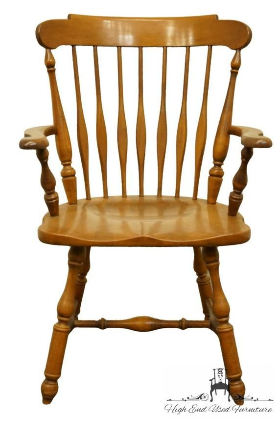 Heywood Wakefield Solid Maple Colonial Style Dining Arm Chair 421