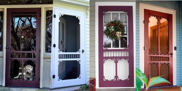 Victorian Screen & Storm - VintageDoors.com Vintage Interior, Exterior Doors Vintage Hardware  Pet Doors  Pet Gates