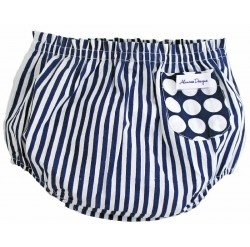 Alimrose Billy Blue Nappy Cover Stripe design