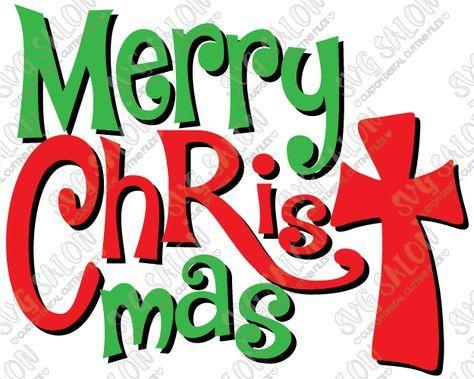 Merry Christ Mas Christian Cross Christmas Custom DIY Iron On Vinyl Shirt…