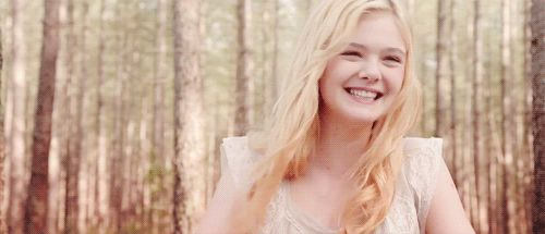 Elle Fanning Laughing GIF