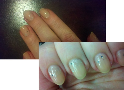Butter London Nail Foundation Flawless Base Coat and Hardwear P.D. Quick Topcoat with OPI Flurry Up! along the nail base