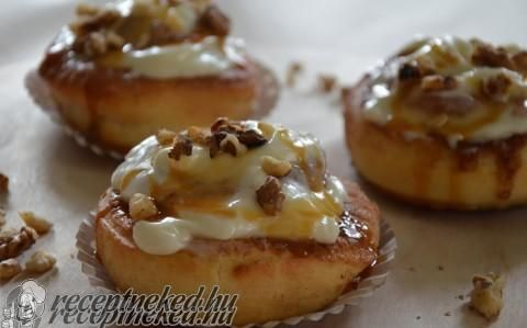 Cinnabon (amerikai fahéjas csiga) recept fotóval