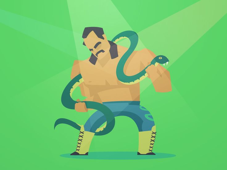 80's Wrestlers - Jake 'The Snake' Roberts by Fraser Davidson for Sweet Crude