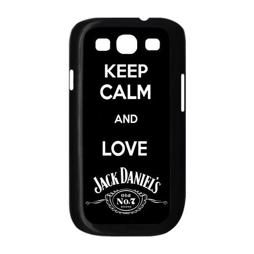 Keep calm and love Jack Daniels samsung galaxy S3 white / Black Case | POINTSALESTORE_CustomDesignMaster - Accessories o