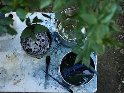 Britt Browne indigo prints on gluttonforlife.com