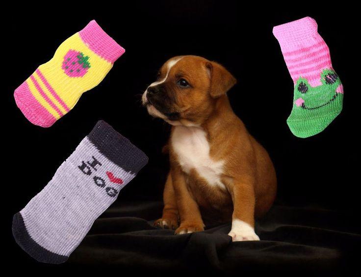 Hundesocken Antirutsch Pfotenschutz Hunden Welpen ABS Socken