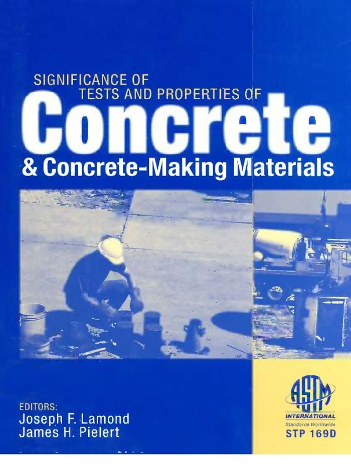 Significance of Tests and Properties of Concrete and -Making Materials