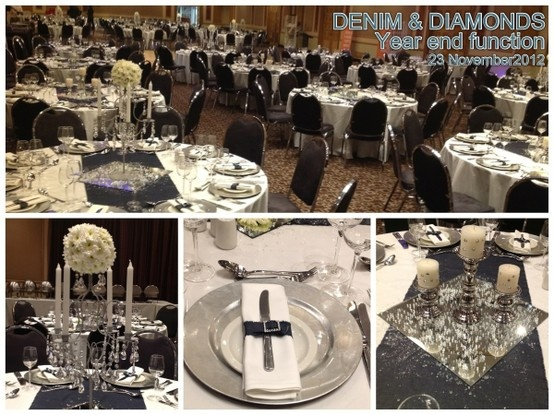 YEAR END FUNCTION 23 November 2012 Colour : white, silver, denim Theme : denim and diomonds