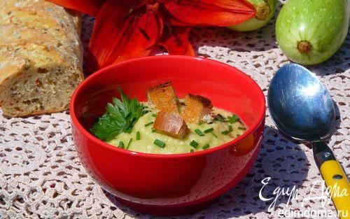 Суп-пюре из кабачков | Кулинарные рецепты от «Едим дома!»