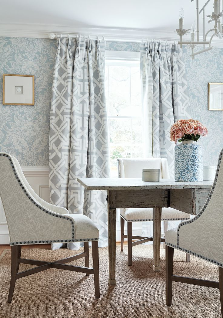 Elegant Hayden Dining Chairs In Kali Woven Fabric In Snow White From Thibaut Fine  Furniture