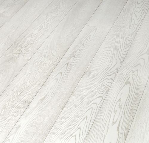 White hardwood floors -- bleached laminate flooring from Tarkett