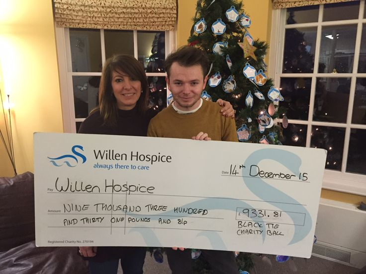 Big #ThankYou to Matthew Cushnan!  Matthew put on a Black Tie Charity Ball in October in memory of his father; raising a whopping £9331.81 for Willen Hospice. #Incredible Fantastic fundraise and support Matthew, #thanks again!