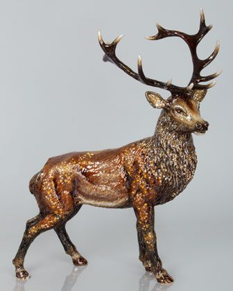 Terence+Stag+Figurine+by+Jay+Strongwater+at+Neiman+Marcus.