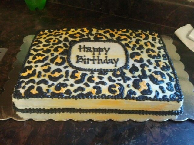 Cheetah Birthday Cake My Creations Pinterest