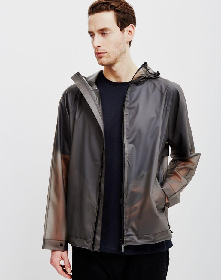 Hunter Original Vinyl Windcheater Jacket Grey | Shop men's lightweight jackets, festival essentials and clothing at The Idle Man