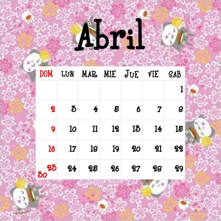 Calendario Totoro 2017 ☼ Abril