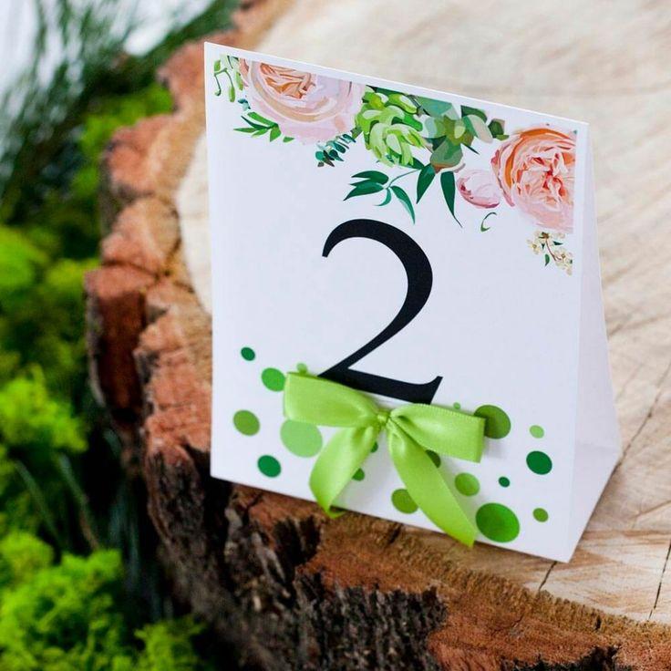 numerek na stoł weselny w kropki